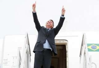 Bolsonaro comemorando