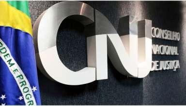 Portaria do CNJ com a bandeira do Brasil