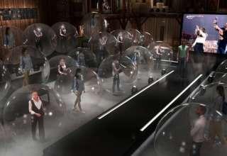 Fazendo com plateia em bolhas