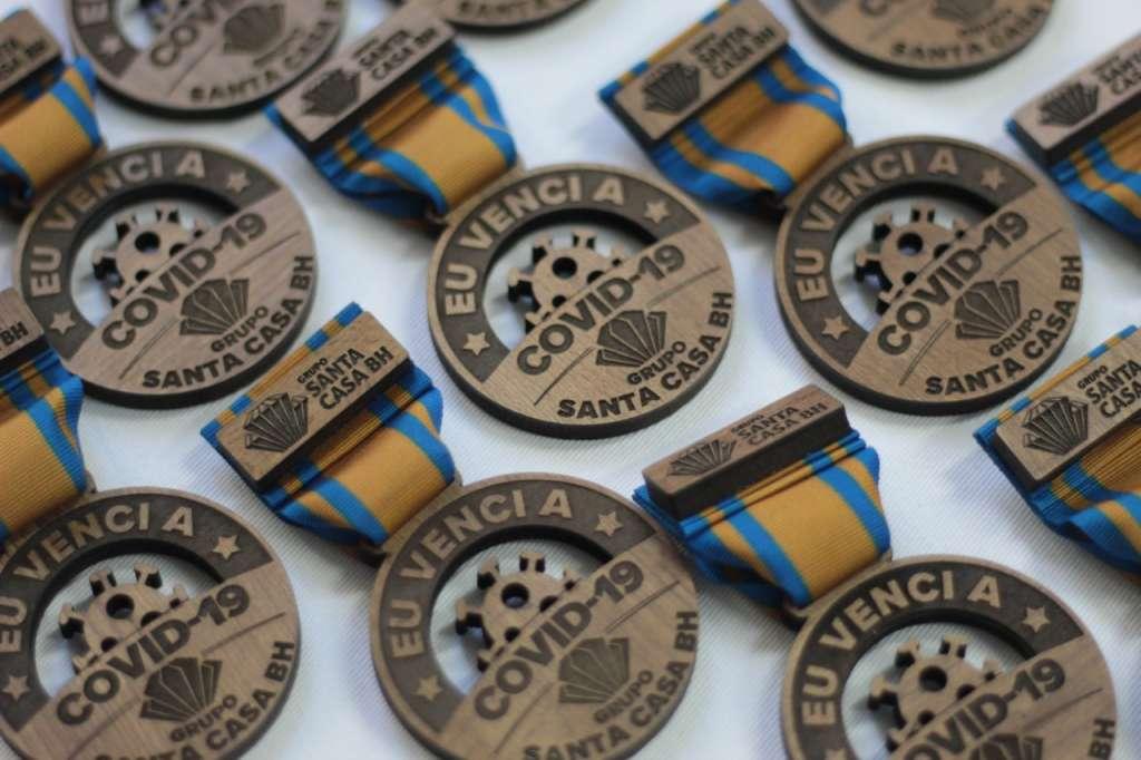 Medalha Santa Casa para curados covid