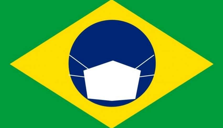bandeira brasil mascara coronavírus