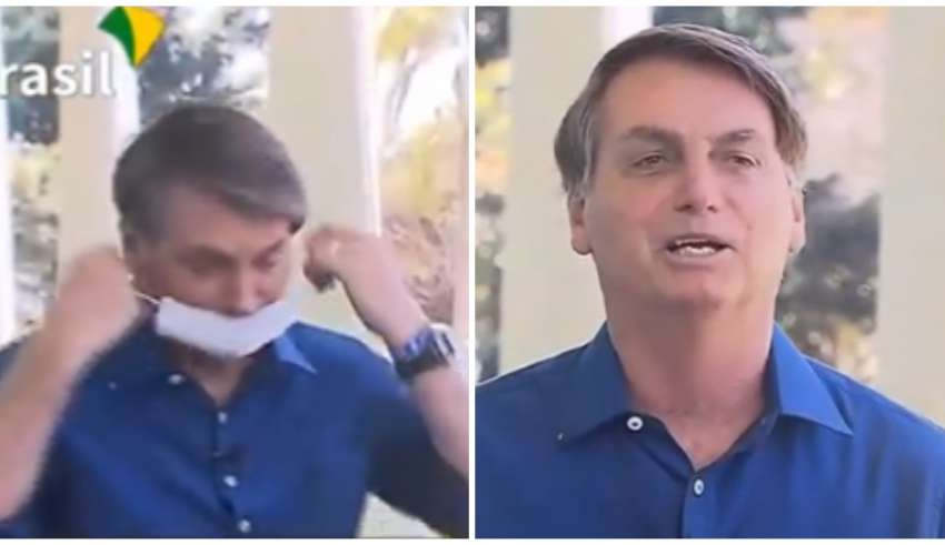 bolsonaro máscara covid