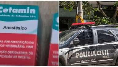 Droga do estupro e viatura da polícia civil