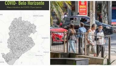 mapa rua pessoas sem máscara