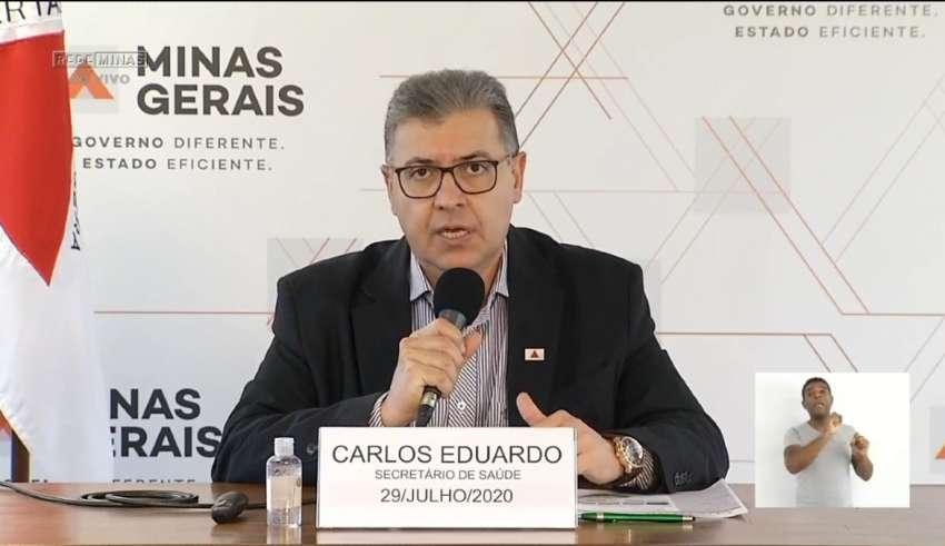 secretário de estado de saúde carlos eduardo amaral coletiva covid