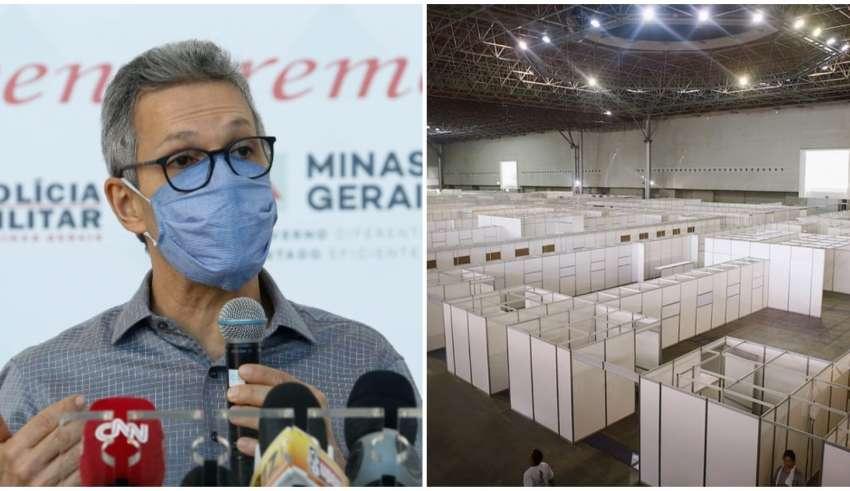 romeu zema governador minas hospital de campanha bh