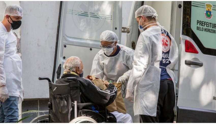 ambulância paciente covid