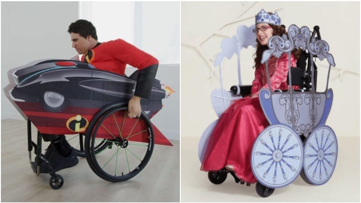 disney cadeira rodas fantasias
