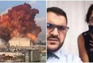 explosão beirute jornalista