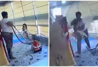 mulher salva crianca explosao beirute