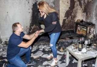 Pedido de casamento incêndio