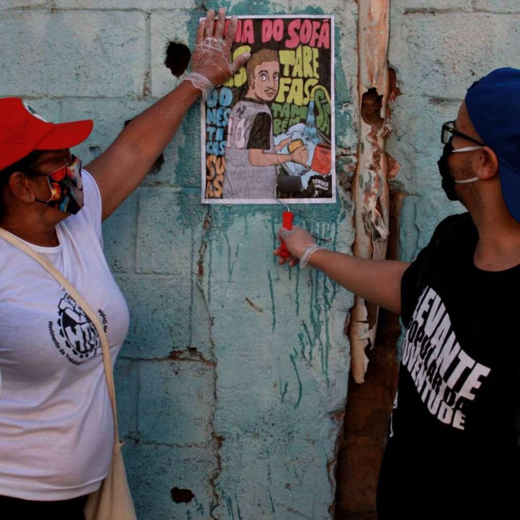 Voluntarios cartaz conscientizacao ppl