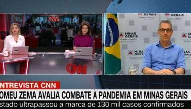 Zema dá entrevista para CNN