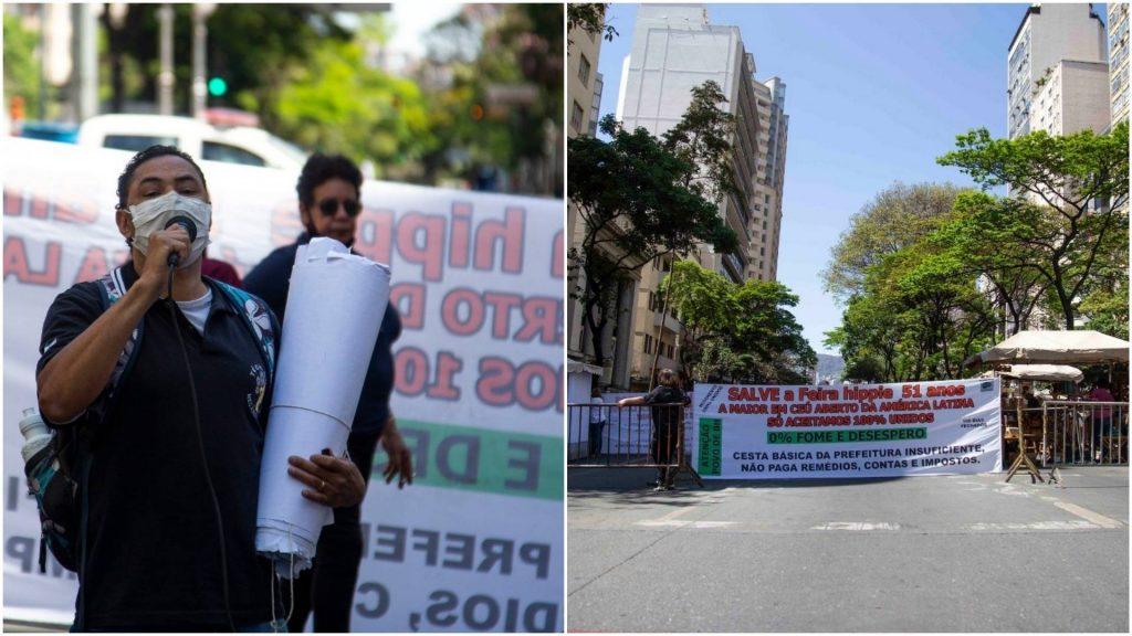 protesto feirantes