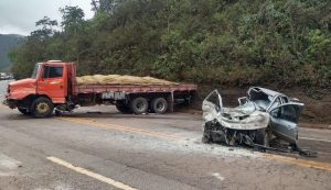 acidente br-040 itabirito mulher morre motorista foge