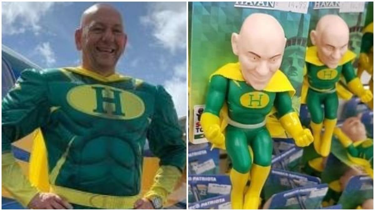 Dono da Havan vira super-herói em boneco vendido pela rede de lojas