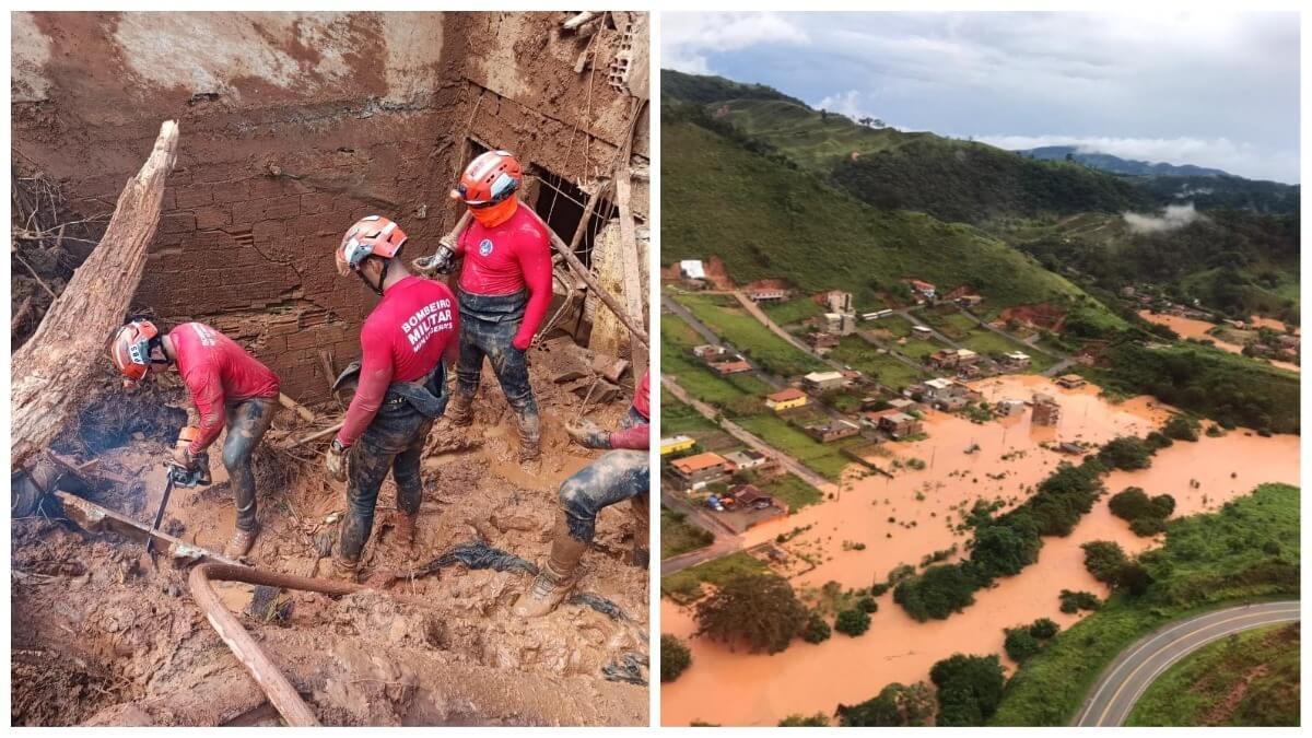 Santa Maria de Itabira Corpo de Bombeiros Zema chuvas inundação