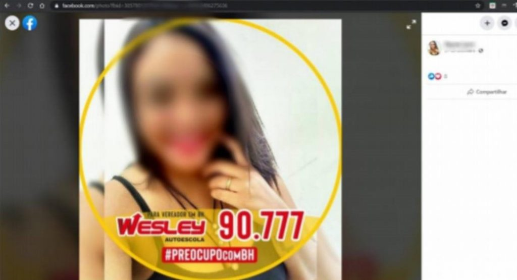 Candidata fez campanha para Wesley