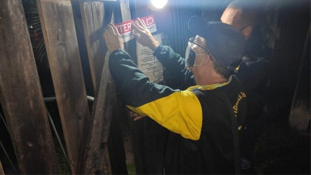 Sítio é interditado pela Prefeitura de Contagem