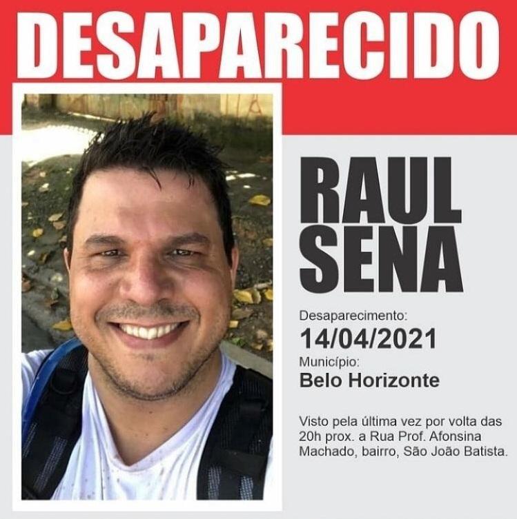Cartaz de Raul Sena desaparecido