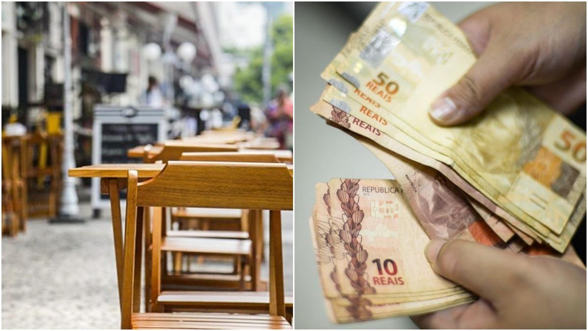 restaurante dinheiro